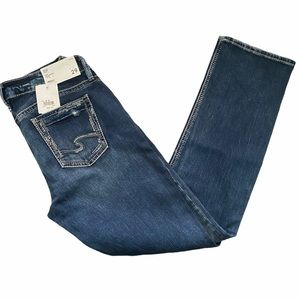 NWT Silver Jeans Elyse Straight Jean 29/32